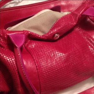 Handbags - Pink perforated bag